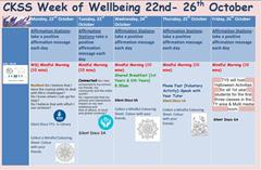 Wellbeing Week 2018
