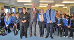 Visit from Lord Mayor and UCC Lecturer