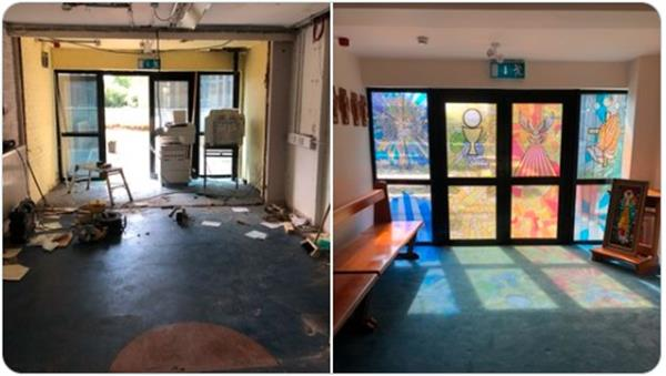We are so grateful for our beautiful Prayer Room transformation.